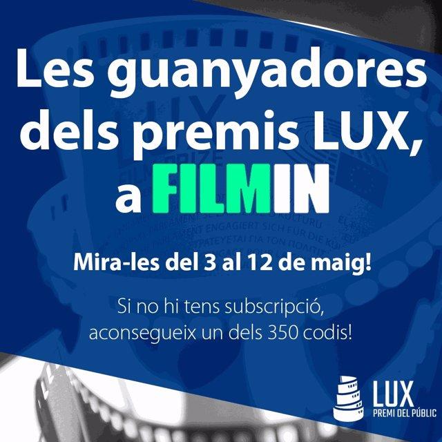 Arxiu - Cartell de les guanyadores dels premis LUX a Filmin.