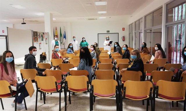 Prácticas de Enfermería en el hospital Infanta Elena de Huelva.