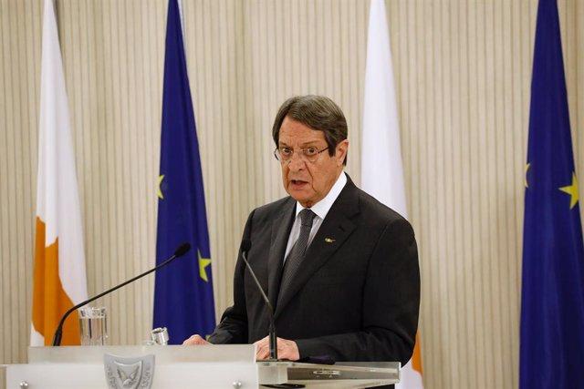 Archivo - El presidente de Chipre, Nicos Anastasiades.