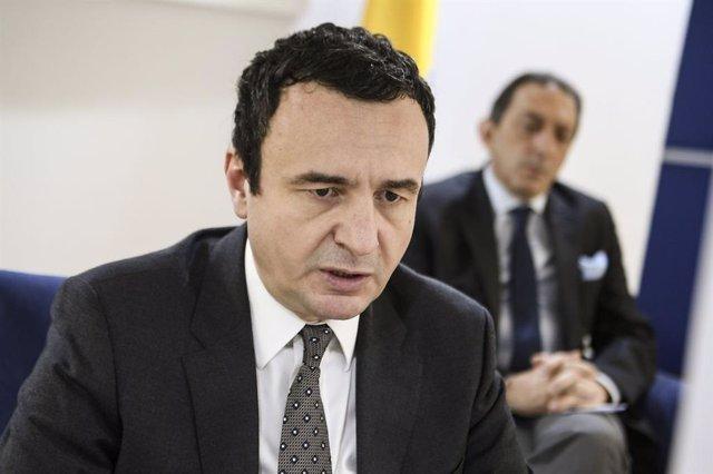 Archivo - El primer ministro de Kosovo, Albin Kurti