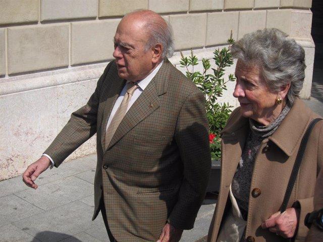 Archivo - Arxiu - Jordi Pujol i la seva dona, Marta Ferrusola.