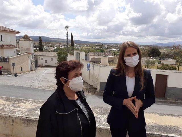 Soledad Martínez y Virginia Fernández, en Huéscar