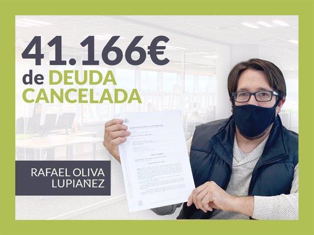 Rafael Oliva, exonerado con Repara Tu Deuda con la Ley de Segunda Oportunidad.