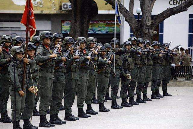 Soldados del Ejército de Venezuela.