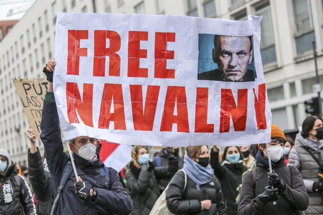 Archivo - Arxiu - Manifestació de suport a Aleksei Navalni.