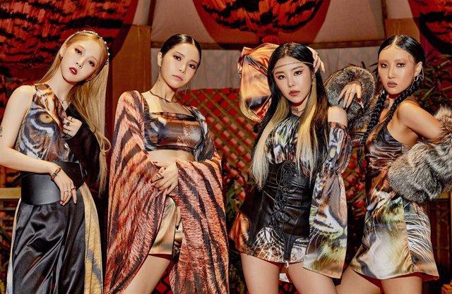 Archivo - El cuarteto de K-Pop Mamamoo ofrecerá un show virtual para celebrar sus siete años de carrera