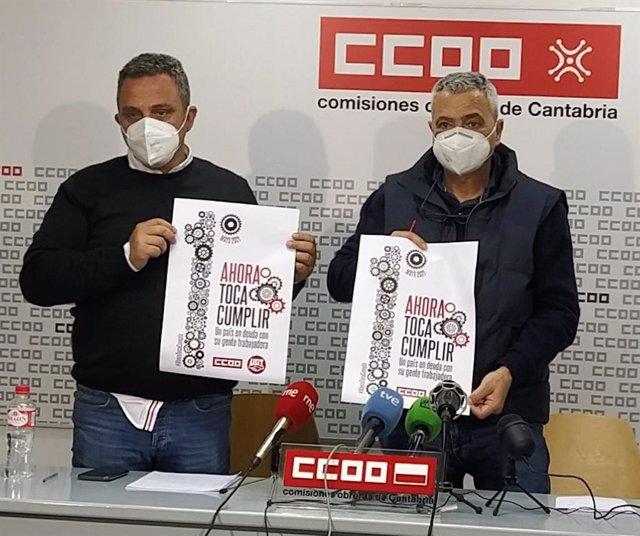 Mariano Carmona y Carlos Sánchez, líderes de CCOO y UGT
