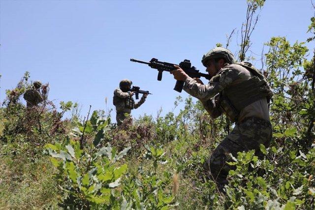 Archivo - Soldados turcos en el norte de Irak