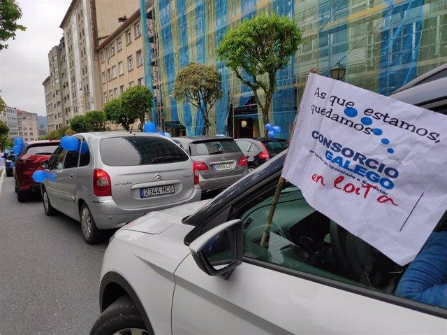 Protesta de las trabajadoras del Consorcio Galego de Servizos da Igualdade e do Benestar
