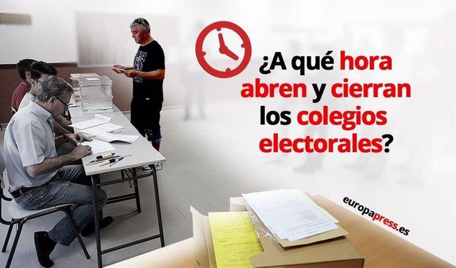 Archivo - ¿Cuál es el horario de los colegios electorales?