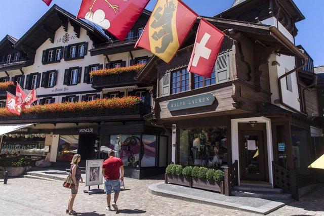 Localidad de Gstaad, en Suiza
