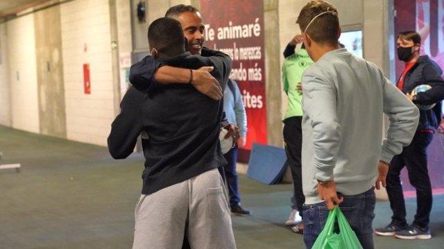 José Gomes se despide de la plantilla de la UD Almería