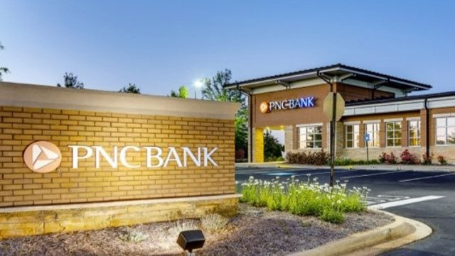 Archivo - Oficina del banco estadounidense PNC Financial.