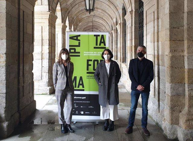 La concejala de Santiago, Mercedes Rosón, en la presentación del festival 'Plataforma'