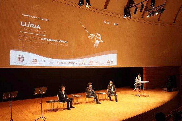 Presentación del primer Concurso Internacional de Dirección de Orquesta 'Llíria City of Music'