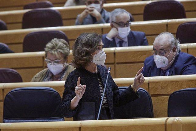 Archivo - Arxiu - La vicepresidenta primera del Govern espanyol, Carmen Calvo.