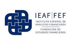 Archivo - Logo del Instituto Español de Analistas Financieros y la Fundación de Estudios Financieros IEAF-FEF.