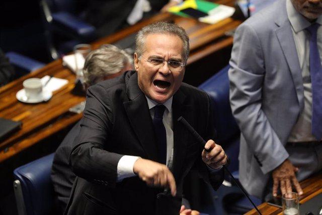 El senador brasileño Renan Calheiros