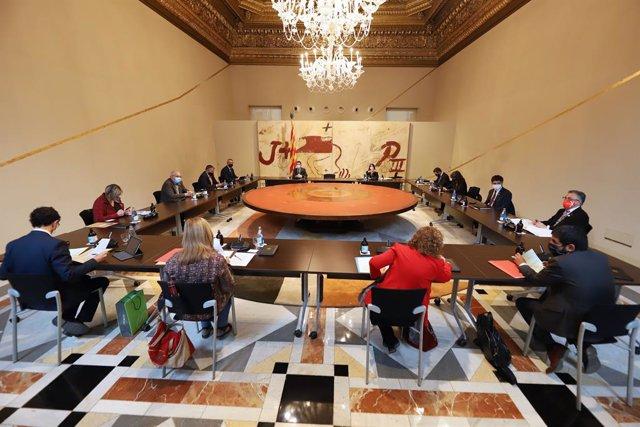 Reunió del Consell Executiu del 27 d'abril del 2021, a Barcelona.