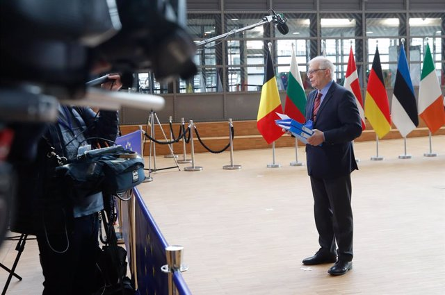 Archivo - HANDOUT - 22 March 2021, Belgium, Brussels: European Union High Representative for Foreign Affairs Josep Borrell speaks to media before the EU foreign ministers meeting in Brussels. Photo: Mario Salerno/European Council/dpa - ATTENTION: editoria