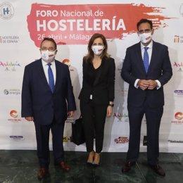 Patricia Rueda, diputada nacional de VOX por Málaga, en el Foro Nacional de la Hostelería