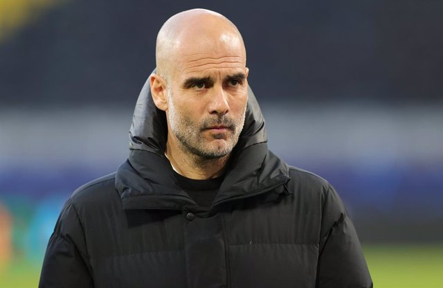 Coach Josep Guardiola of Manchester City during the UEFA Champions League, Quarter-Finals, 2nd leg football match between Borussia Dortmund and Manchester City on April 14, 2021 at Signal Iduna Park in Dortmund, Germany - Photo Ralf Ibing / firo Sportphot