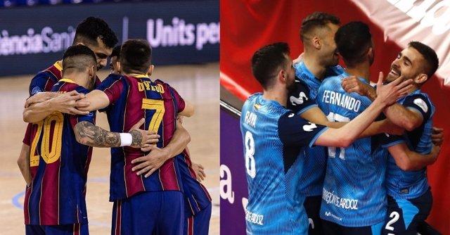 Archivo - Barça e Inter Movistar buscan fortuna en la Final 8 de la UEFA Futsal Champions League 2021, que se disputa en Zadar (Croacia)