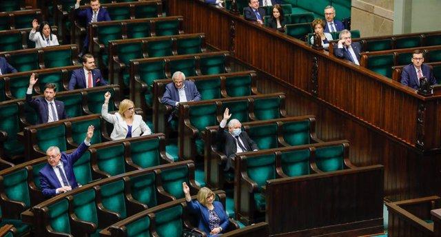 Una sesión del Parlamento de Polonia