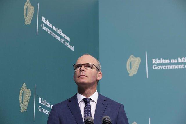 Archivo - El ministro de Exteriores de Irlanda, Simon Coveney