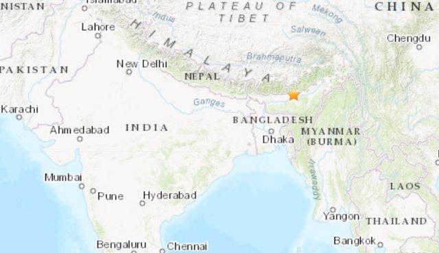 Terremoto de magnitud 6,4 en la escala de Richter en el noreste de India