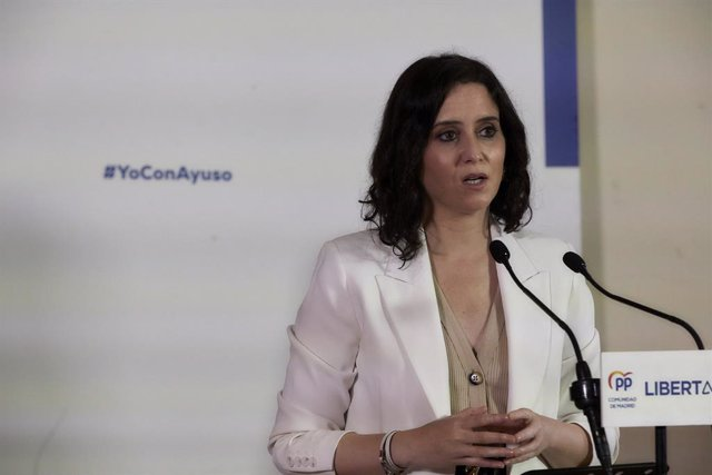 La presidenta de la Comunitat de Madrid i candidata del PP a la reelecció, Isabel Díaz Ayuso.