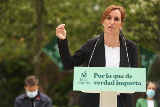 La candidata de Más Madrid a la Presidencia de la Comunidad, Mónica García