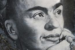 Collective work - Portrait of Frida Kahlo  thierry Ehrmann 2020. Courtesy The Abode of Chaos