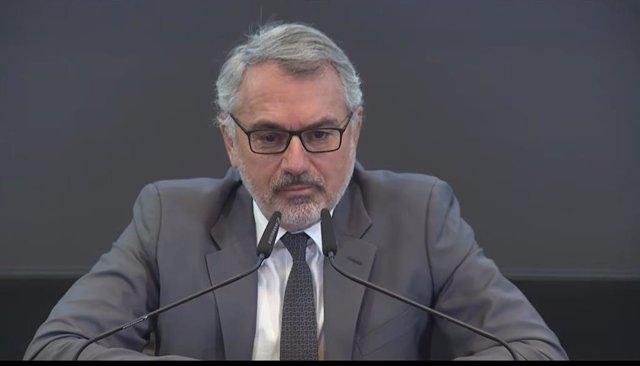 El CEO de Puig, Marc Puig, durant la roda de premsa.