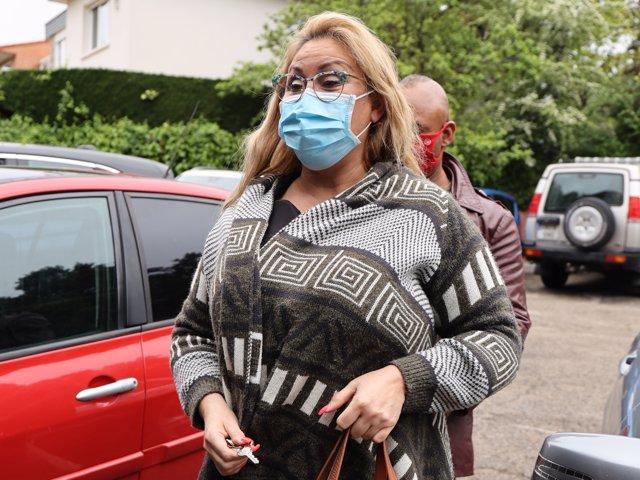 Raquel Mosquera, visiblemente recuperada