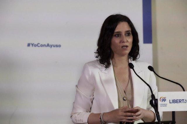 Arxiu - La presidenta de la Comunitat de Madrid i candidata del PP a la reelecció, Isabel Díaz Ayuso.
