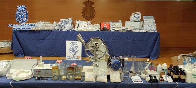 La Policía Nacional desmantela el laboratorio clandestino de anabolizantes y hormonas más activo de Europa