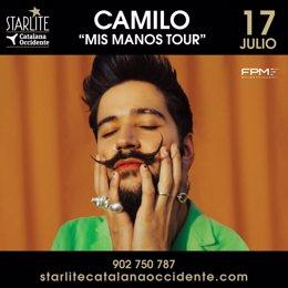 Camilo actuará en Starlite en Marbella el 17 de julio en su primer concierto en España de la gira Mis Manos Tour