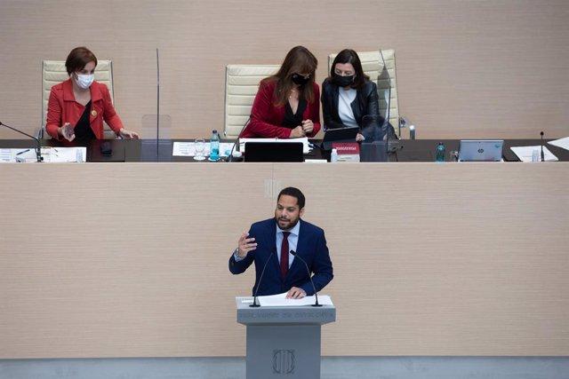 Arxiu - El líder de Vox al Parlament, Ignacio Garriga.