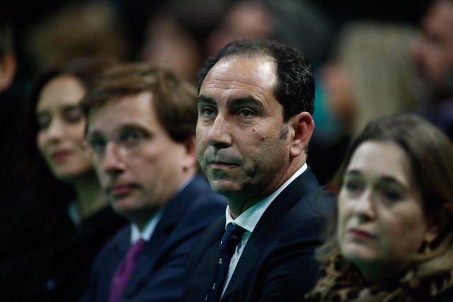 Archivo - El Director de la Davis Cup Madrid Finals, Albert Costa, en la presentación de la edición de 2019 en la Caja Mágica.
