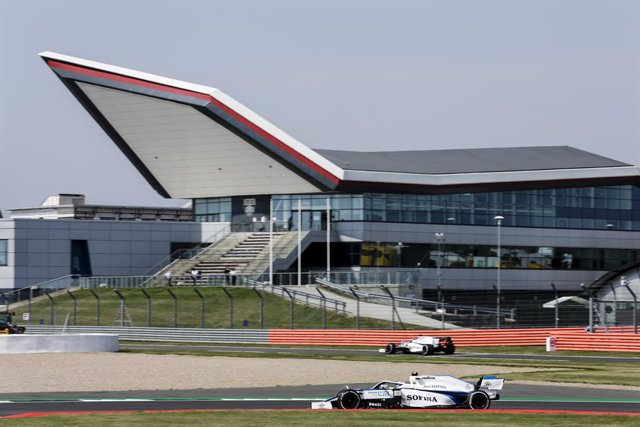 Archivo - 06 LATIFI Nicholas (can), Williams Racing F1 FW43, action during the Emirates Formula 1 70th Anniversary Grand Prix 2020, from August 07 to 09, 2020 on the Silverstone Circuit, in Silverstone, United Kingdom - Photo Xavi Bonilla / DPPI