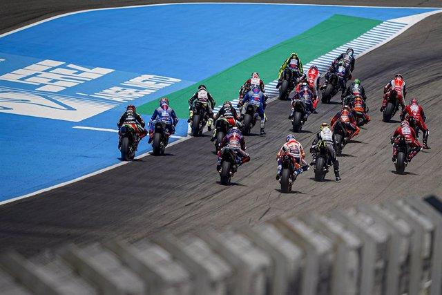 Archivo - Carrera de MotoGP en el Gran Premio de España 2020, en el Circuito de Jerez-Ángel Nieto