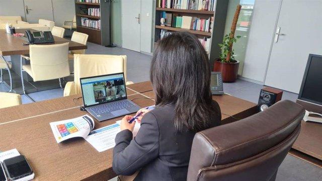 La consejera de Educación y Empleo, Esther Gutiérrez