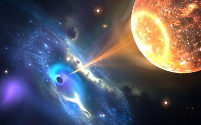 Interacción agujero negro-estrella de neutrones puede ayudar a medir la tasa de expansión deL Universo