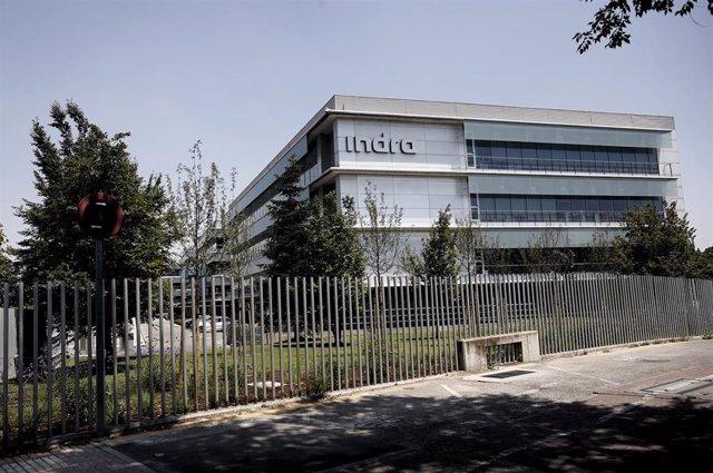 Archivo - Sede de la compañía de tecnología y defensa Indra en Alcobendas.