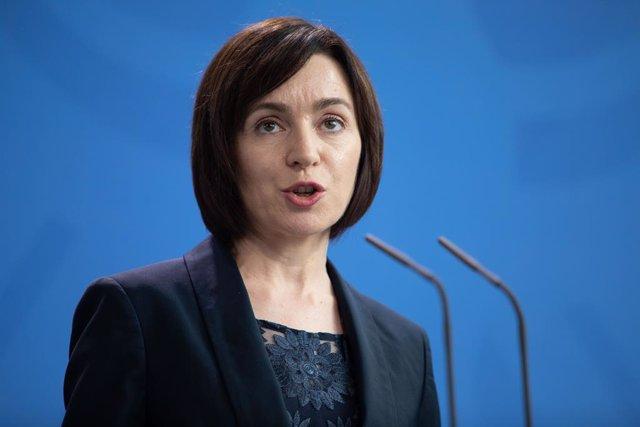 Archivo - Maia Sandu, presidenta de Moldavia