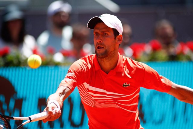 Archivo - Arxiu - Djokovic en el Mutua Madrid Open 2019.
