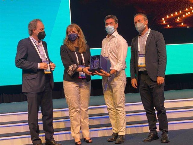 Entrega del premio en Cancún