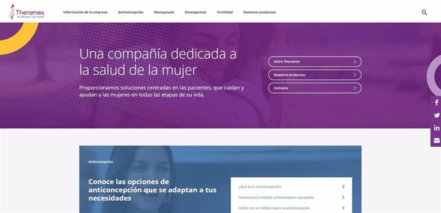 Web de Theramex.