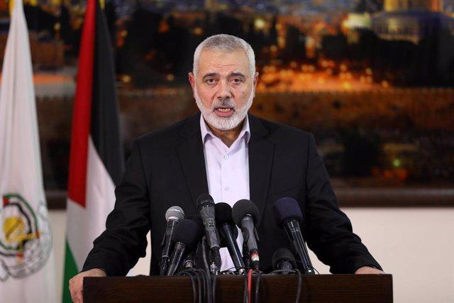 Archivo - El líder del brazo político de Hamás, Ismail Haniye